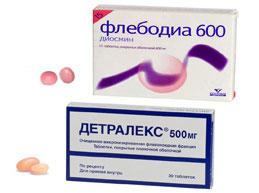 флебодия 600 и детралекс