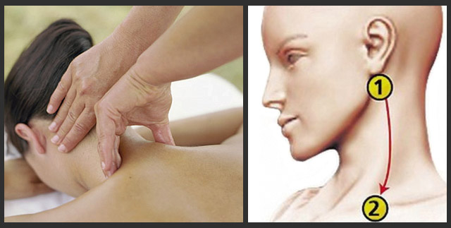 массаж акупунктурных точек шеи