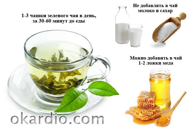правила употребления зеленого чая для лечебного эффекта