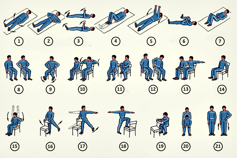 Гимнастика с картинками после инсульта