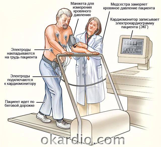 проведение электрокардиографии с применением физической нагрузки