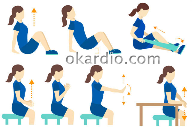 упражнения после инсульта в положении сидя