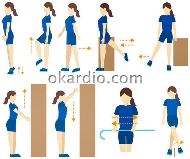 упражнения после инсульта в положении стоя