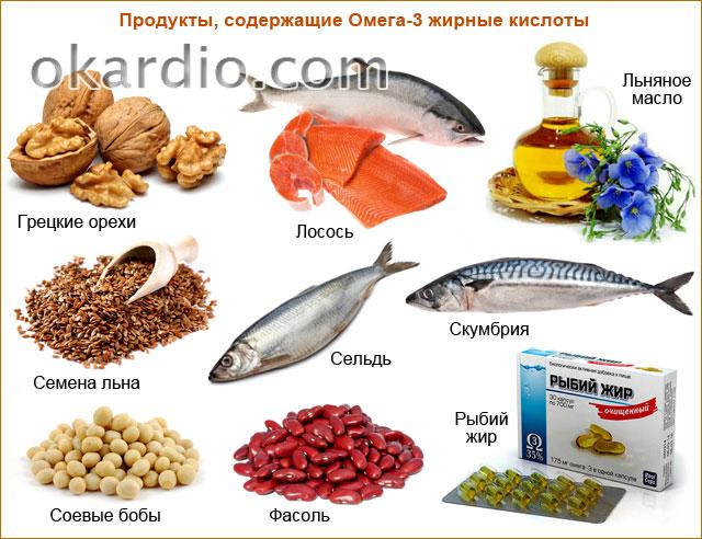 продукты, содержащие Омега-3 жирные кислоты