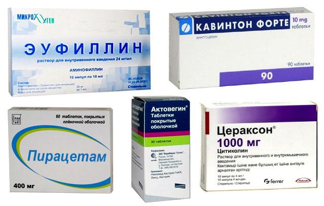препараты для лечения нарушенного мозгового кровообращения