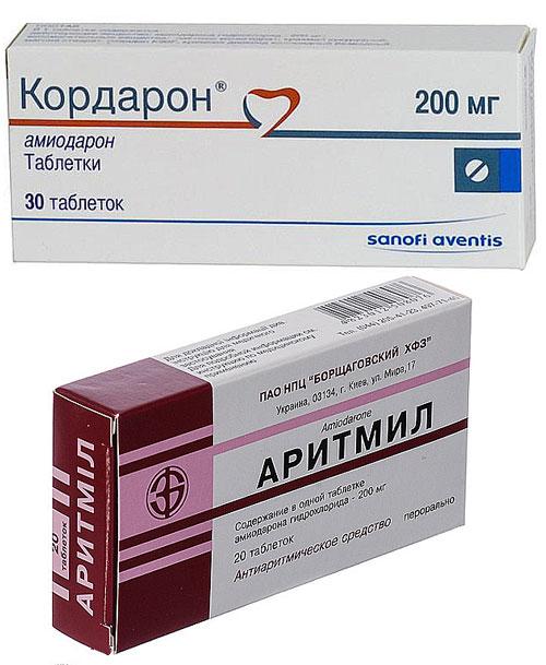 препараты Кордарон и Аритмил для лечения тахикардии