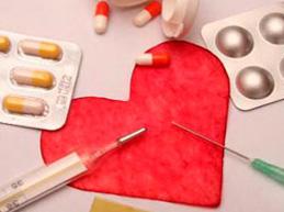 изображение сердца и лекарственных средств