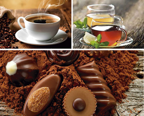 продукты, содержащие кофеин