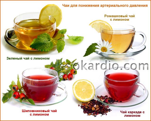 чаи с лимоном для понижения артериального давления