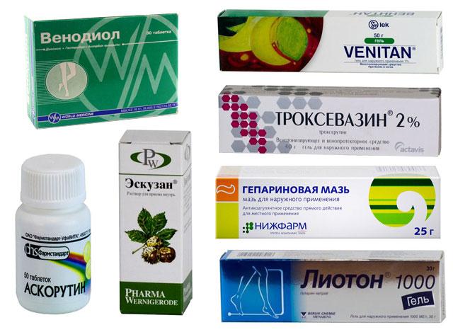 препараты против варикозного расширения вен на ногах