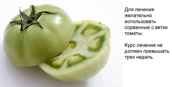 рекомендации при лечении варикоза томатами