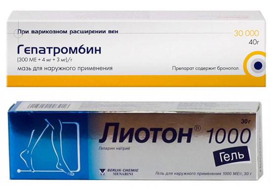 гепатромбин и лиотон