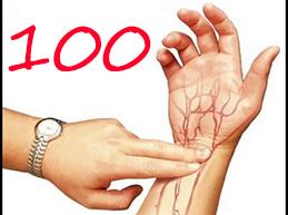 Что делать, если пульс 100 ударов в минуту: причины и лечение