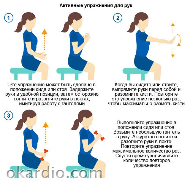 активные упражнения для рук