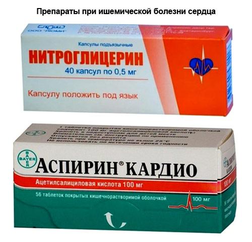 препараты при ишемической болезни сердца