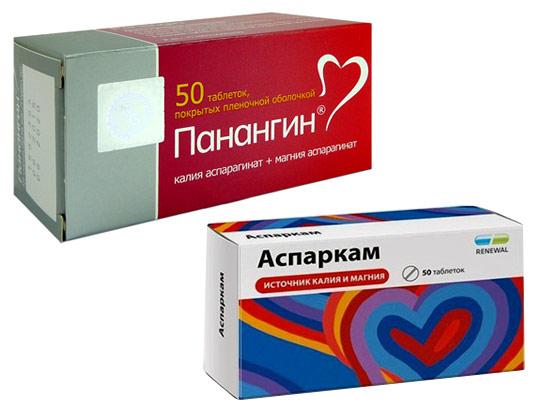 препараты, содержащие калий и магний