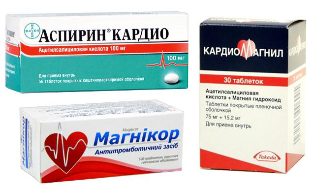 препараты, содержащие аспирин