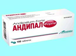 От чего таблетки Андипал: показания, побочные эффекты