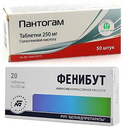 препараты Фенибут и Пантогам