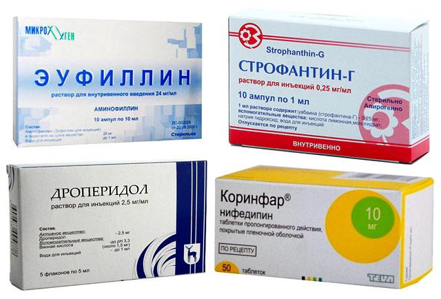 препараты для снятия приступа сердечной астмы