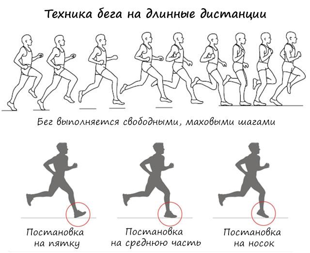техника бега на длинные дистанции