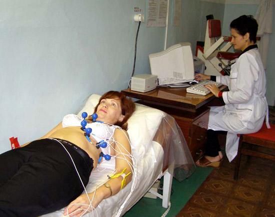 беременная женщина на ЭКГ