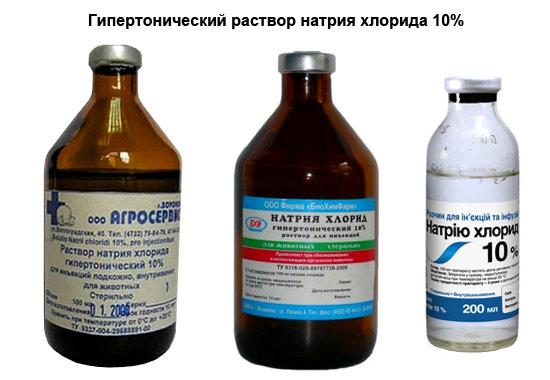 гипертонический раствор натрия хлорида 10%