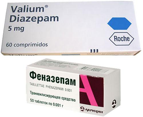 препараты Феназепам и Валиум