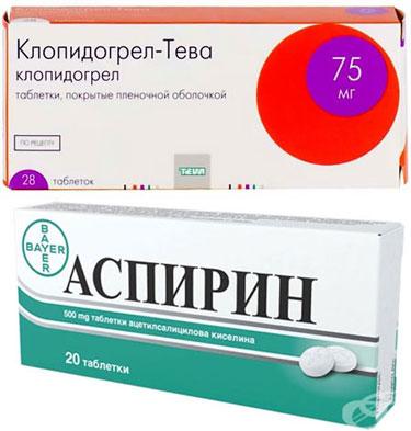препараты Клопидогрель и Аспирин