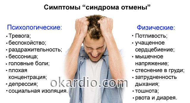 симптомы абстинентного синдрома