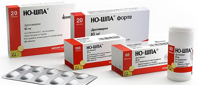 различные формы выпуска препарата Но-шпа
