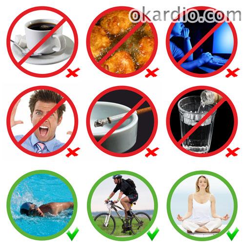 изменение образа жизни для уменьшения симптомов сосудистой дистонии