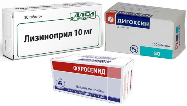 препараты Фурасемид, Лизиноприл и Дигоксин