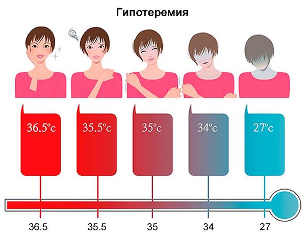 влияние низкой температуры на температуру тела и развитие гипертермии
