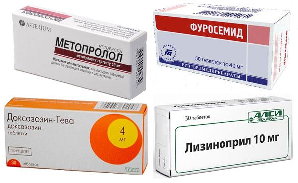 препараты Метопролол, Фуросемид, Лизиноприл и Доксазозин
