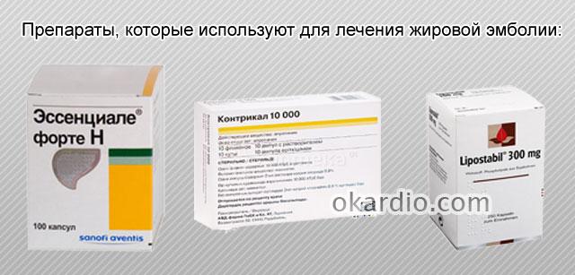 препараты при жировой эмболии