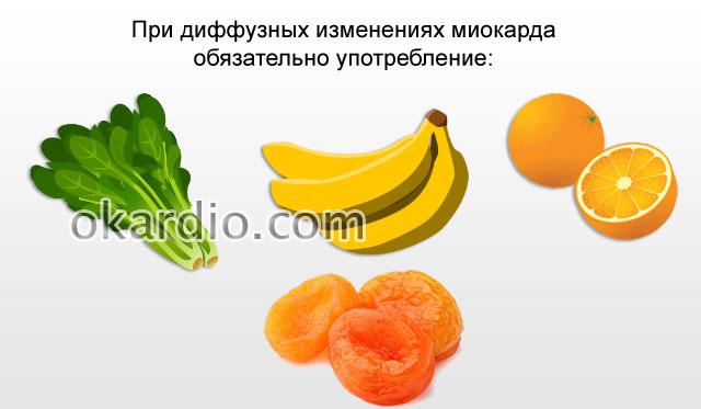 полезные продукты при диффузных изменениях сердца