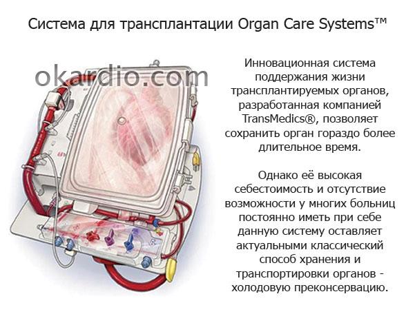 система для поддержания жизни органов