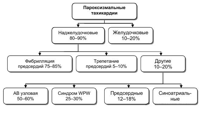 частота пароксизмальных тахикардий
