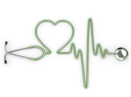 сердечный ритм в виде фонендоскопа