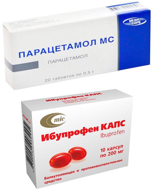 препараты Парацетамол и Ибупрофен
