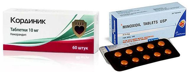 препараты Кординик и Миноксидил