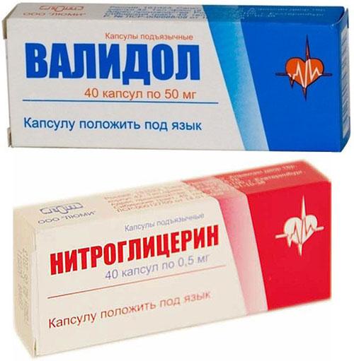 препарат Нитроглицерин и Валидол