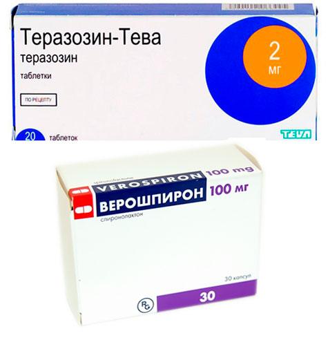 препараты Теразозин и Верошпирон