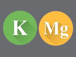 символы калия и магния