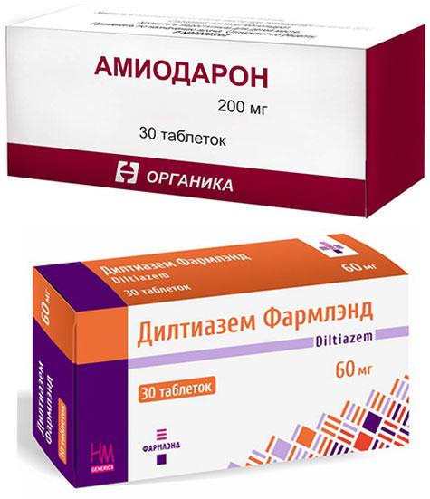 препараты Амиодарон и Дилтиазем
