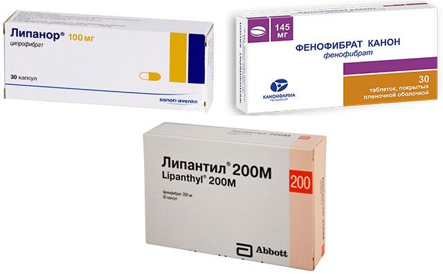 препараты Липантил, Фенофибрат и Липанор