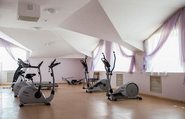 спортивный зал в санатории Ливадия